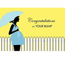 Congratulations on Your Bump, Pregnancy Photographic Print