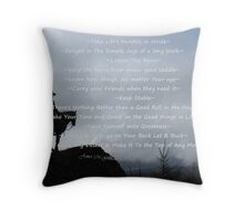 Advice From a Horse Throw Pillow