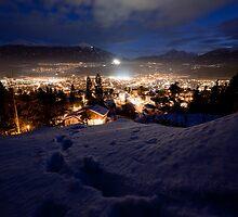 Innsbruck@night by Florian Wieser