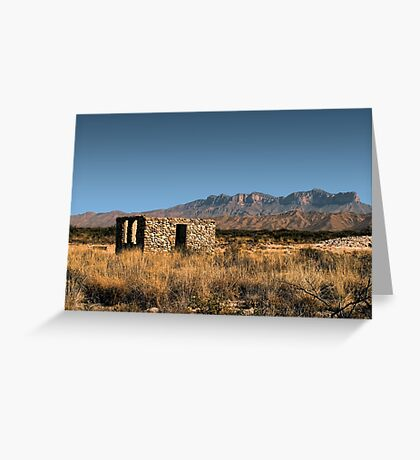 Near Guadalupe Mountains National Park Greeting Card