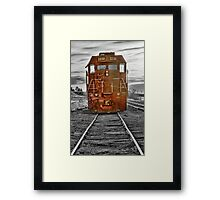 Red Locomotive Framed Print