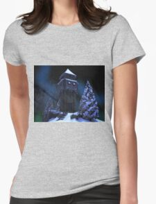 Winter Tower Womens Fitted T-Shirt