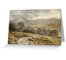 Late Winter In Derbyshire Greeting Card