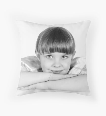 Tia BW Throw Pillow