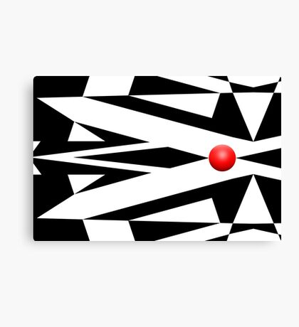 Red Ball 26 Canvas Print