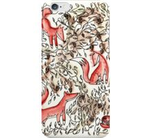 Foxes Playing iPhone Case/Skin