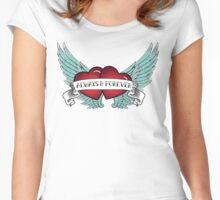 Rockabilly Always & Forever Winged Heart Women's Fitted Scoop T-Shirt