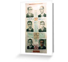 EL INFORTUNADO AZAR DE LAS COSAS Greeting Card