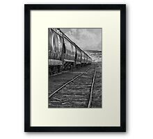 Next Tracks In Black and White Framed Print