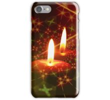 Green and Red Christmas Advent Candles iPhone Case/Skin