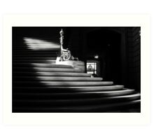 The light on the stairs of power – San Francisco City Hall Art Print