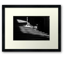 The light on the stairs of power – San Francisco City Hall Framed Print