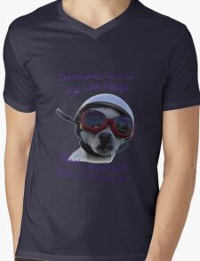 Chihuahua and the Bike Safety Message --New and Improved Tee Mens V-Neck T-Shirt