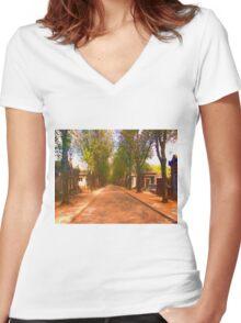 Paris Avenue Women's Fitted V-Neck T-Shirt
