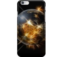 Black and Gold Christmas Fractals Ornaments iPhone Case/Skin