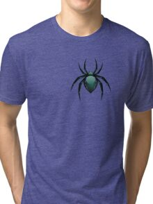 Cartoon Green Spider Tri-blend T-Shirt