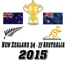 New Zealand v Australia 34 17 Rugby World Cup Final 2015 T Shirt and Hoodie by zandosfactry