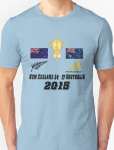 New Zealand v Australia 34 17 Rugby World Cup Final 2015 T Shirt and Hoodie T-Shirt