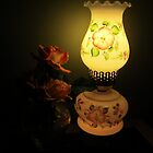 Roses in the Lamp light by Heather Crough