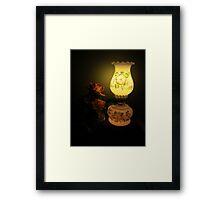 Roses in the Lamp light Framed Print