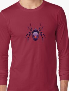 Cartoon Purple Spider Long Sleeve T-Shirt