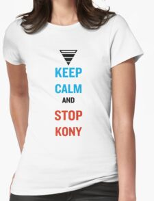 Keep Calm And Stop Kony Womens Fitted T-Shirt