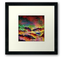 ITS A ROSE COLORED LIFE 4 Floral Rainbow Red Blue Yellow Green Flowers Abstract Acrylic Painting Fine Art Framed Print