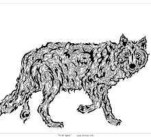 """Wolf Spirit"" - surreal tribal totem animal by Leah McNeir"