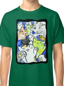 Manga cats conquer the world again (with frame) Classic T-Shirt