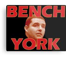 Bench York Metal Print