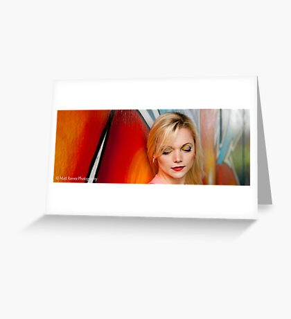 Amber Graffiti Greeting Card