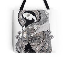 The Crone (She Swallowed a Fly) Tote Bag