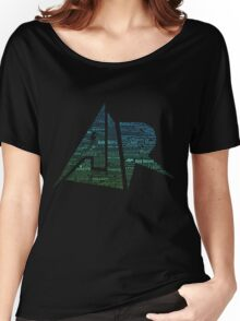 AJR typography - Green/Blue Gradient Women's Relaxed Fit T-Shirt