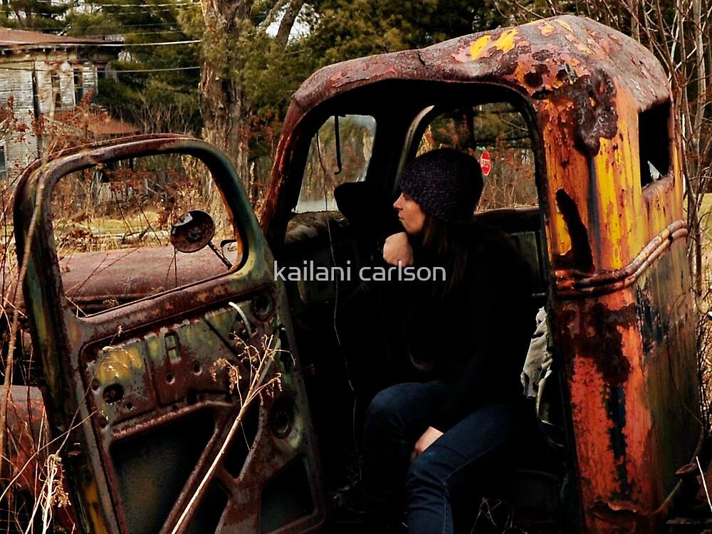 Self Portrait, Abandoned Car by kailani carlson