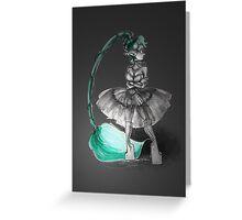 Rainbow Punk: Tirquoise Steam Greeting Card