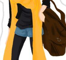 Yellow scarf  Sticker