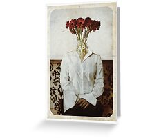 Still Life with The Faceless Woman Greeting Card