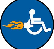 Sign Rocket Wheelchair by wetdryvac
