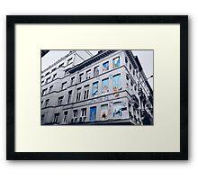 Rue Philippe de Champagne, Bruxelles, Belgium. Framed Print