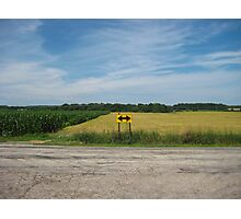 Wheat Field Road Sign Photographic Print