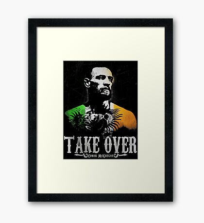 """Conor McGregor """"Take Over"""" Framed Print"""