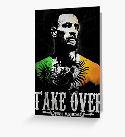 "Conor McGregor ""Take Over"" Greeting Card"