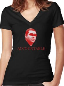 Not Accountable Women's Fitted V-Neck T-Shirt