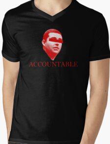 Not Accountable Mens V-Neck T-Shirt