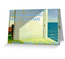 dreams (hopper) Greeting Card