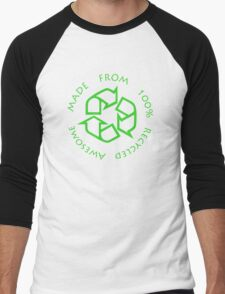 Recycled Awesome Men's Baseball ¾ T-Shirt