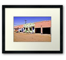 Blue Swallow Motel Framed Print