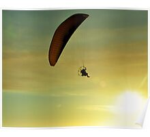 Flying at Sunset Poster