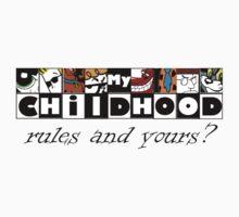 My Cartoon Childhood tee by Nikki Toong