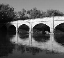 Black and white bridge by Valeria Lee